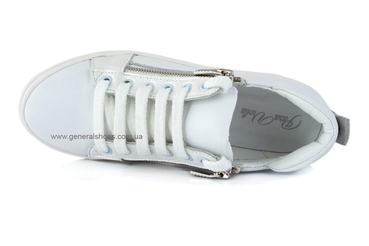 Кроссовки женские кожаные Р 215 белые фото 5