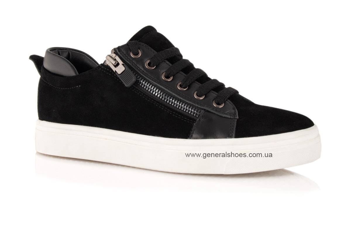 Кроссовки женские замшевые Р 215 черные фото 1