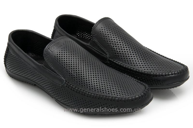 Мужские кожаные мокасины 05922 черные max фото 1