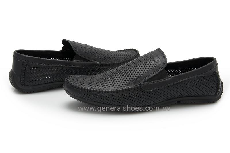 Мужские кожаные мокасины 05922 черные max фото 2