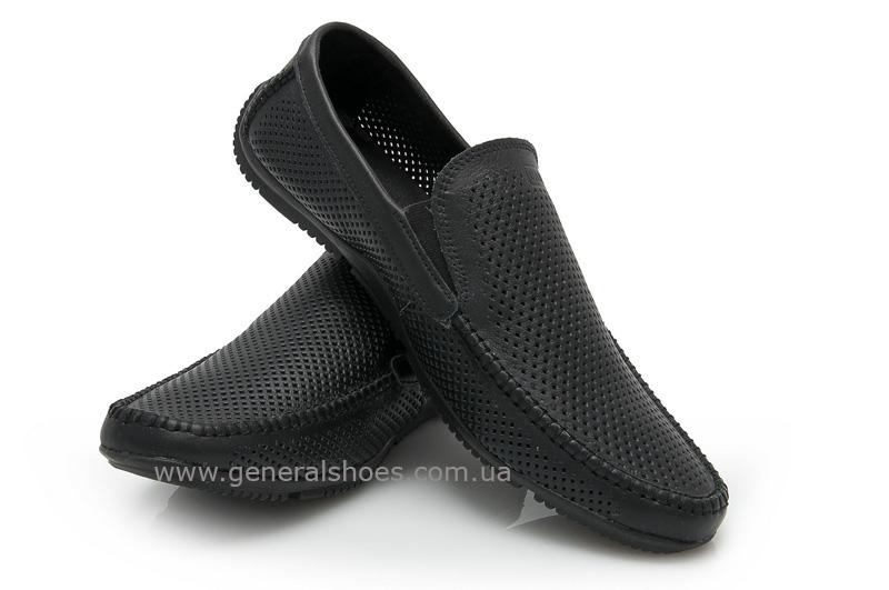 Мужские кожаные мокасины 05922 черные max фото 4