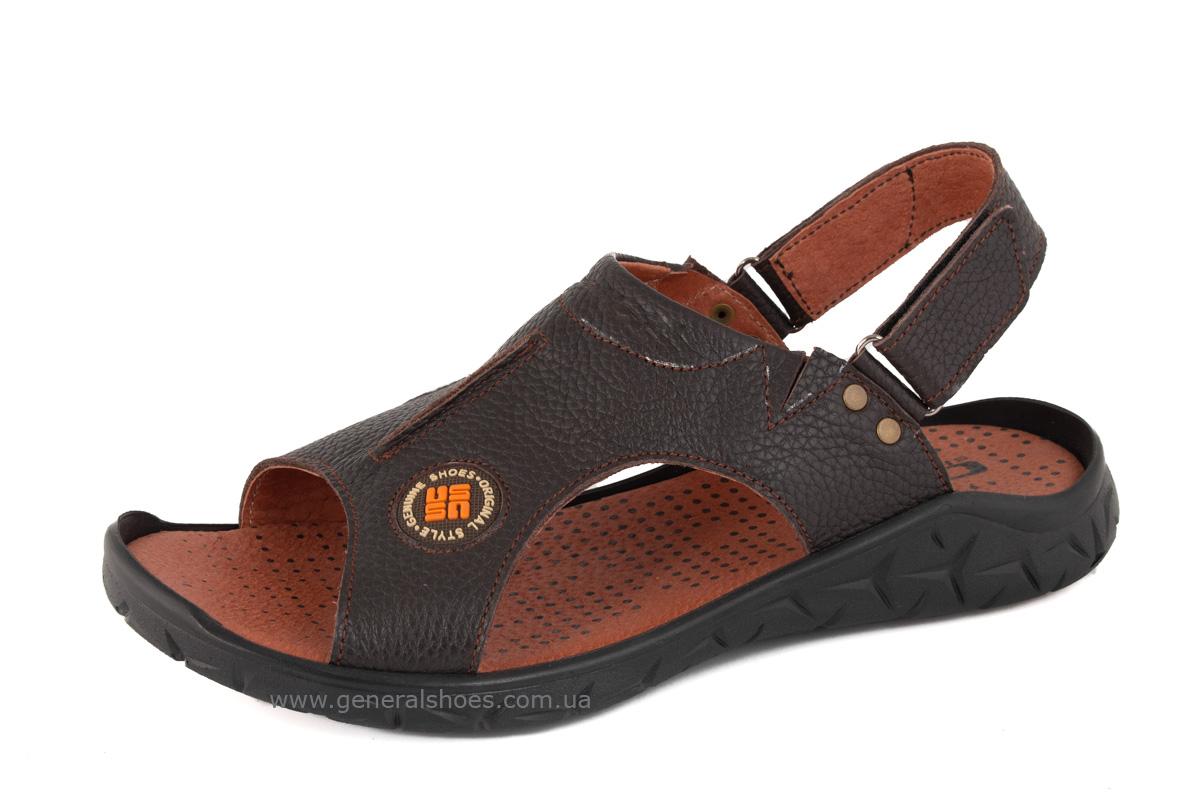 Мужские кожаные сандалии 31 monzo коричневые фото 1