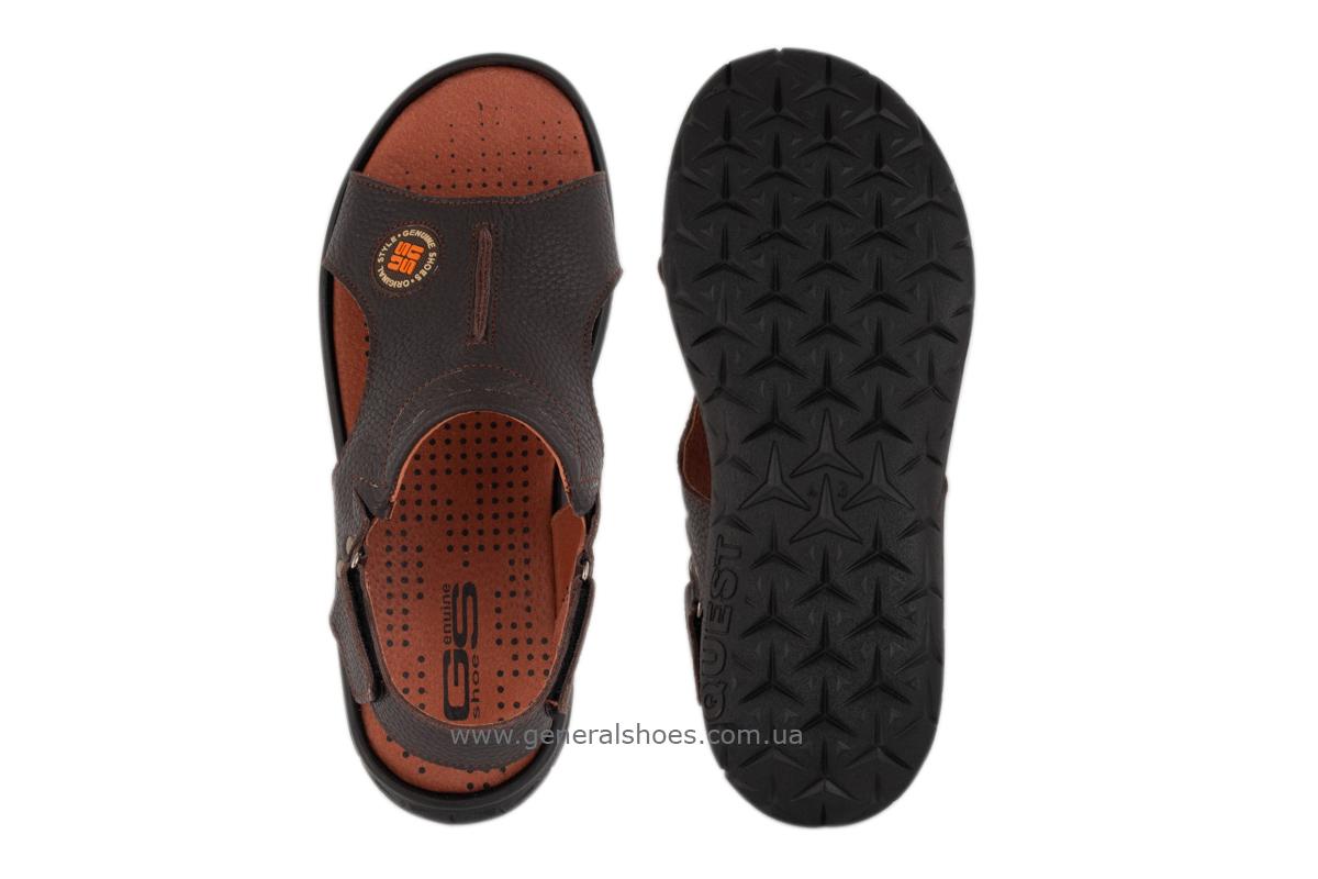 Мужские кожаные сандалии 31 monzo коричневые фото 3