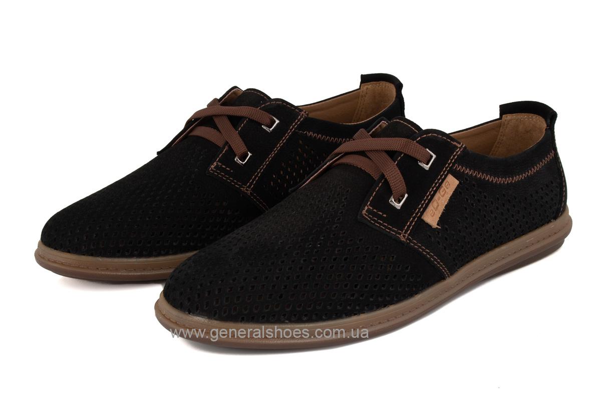 Мужские летние туфли Freddo PF черные фото 8