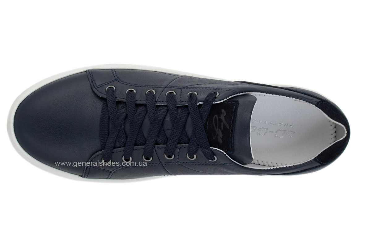 Мужские кожаные кеды Ked 03 синие фото 3
