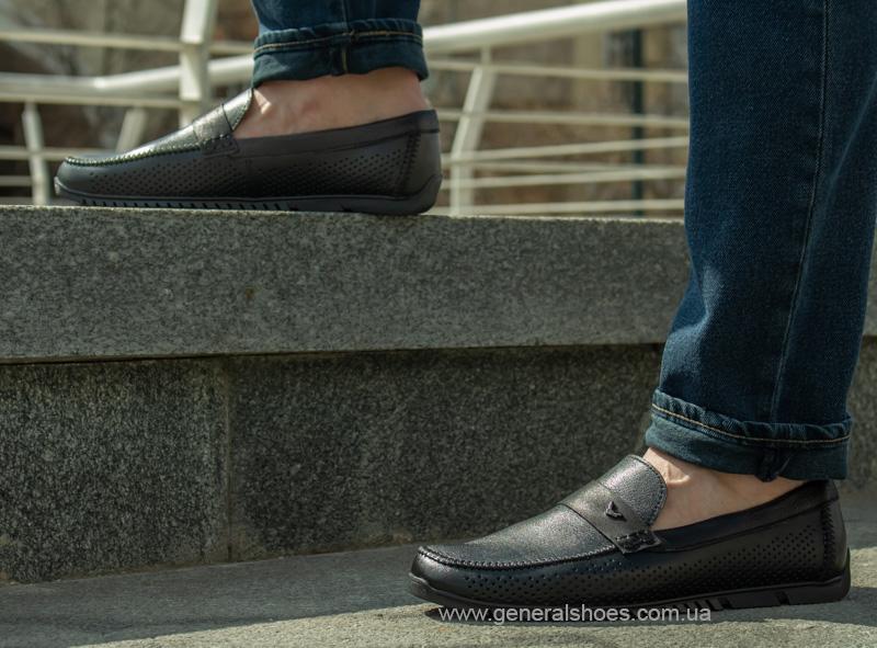 Мужские кожаные мокасины MS 3 черные