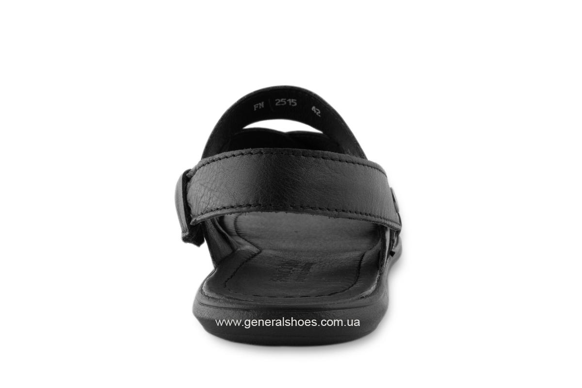Кожаные мужские сандалии Falcon 2515 черные фото 7