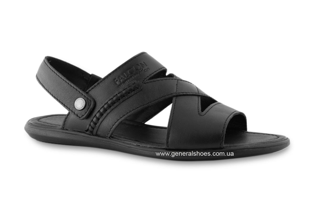 Кожаные мужские сандалии Falcon 2515 черные