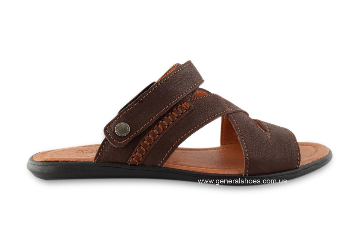 Кожаные мужские сандалии Falcon 2515 коричневые фото 5