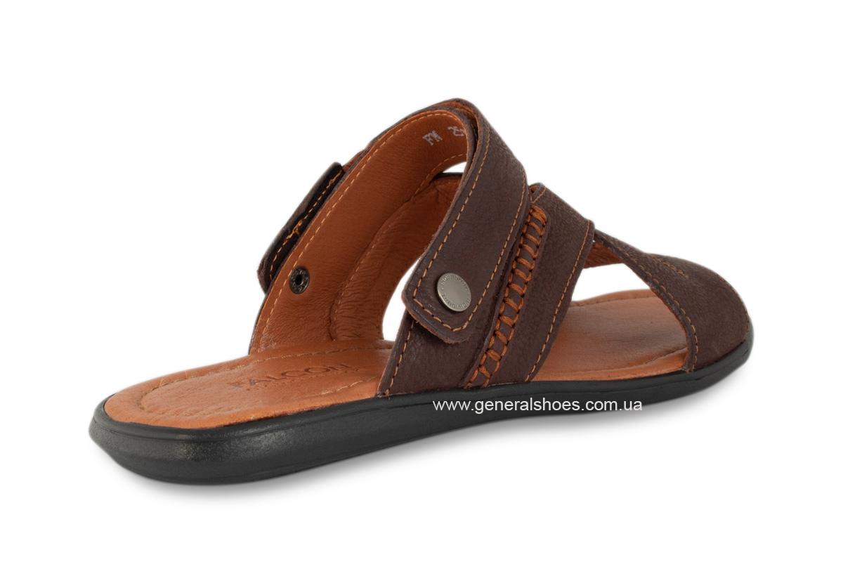 Кожаные мужские сандалии Falcon 2515 коричневые фото 6