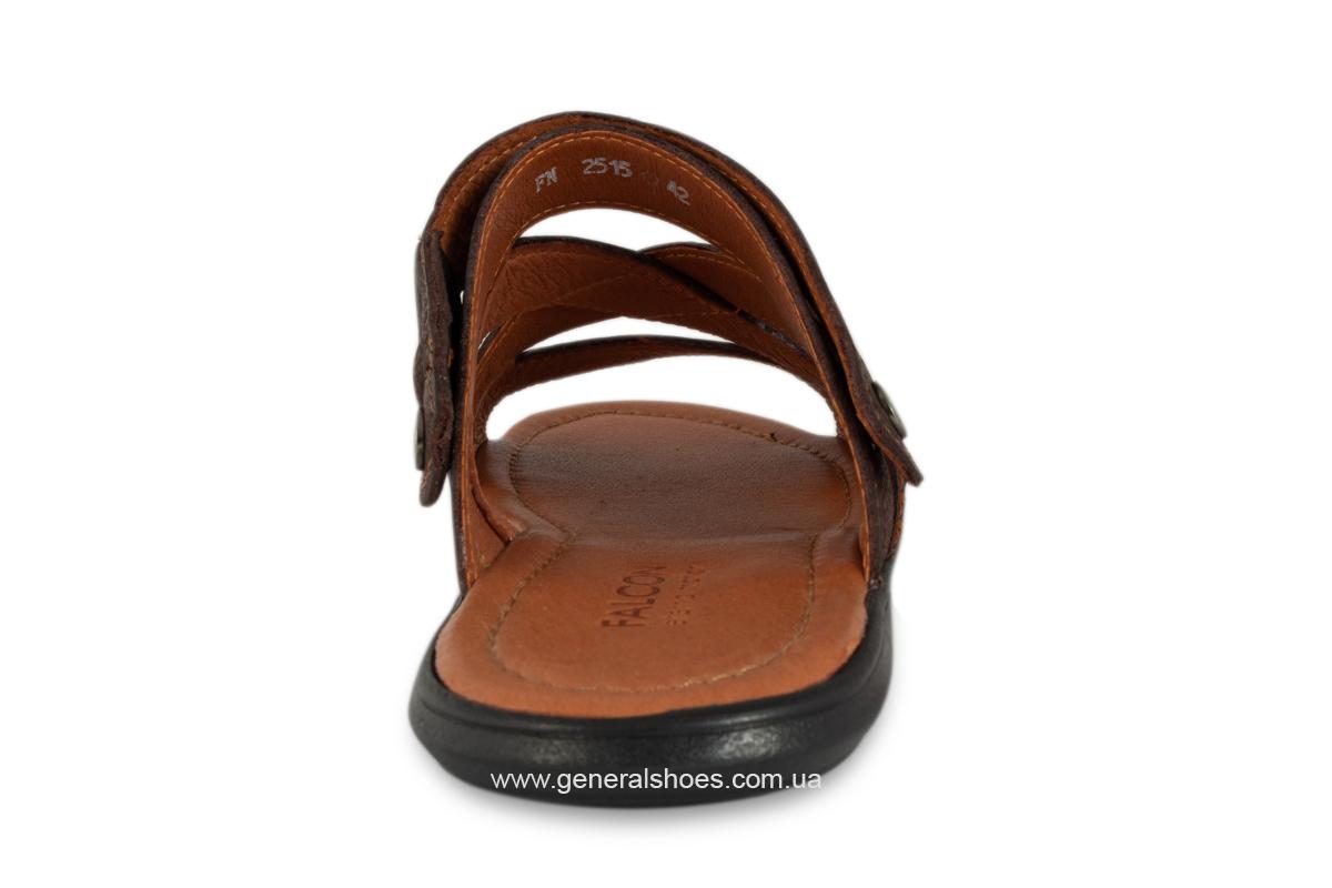 Кожаные мужские сандалии Falcon 2515 коричневые фото 7
