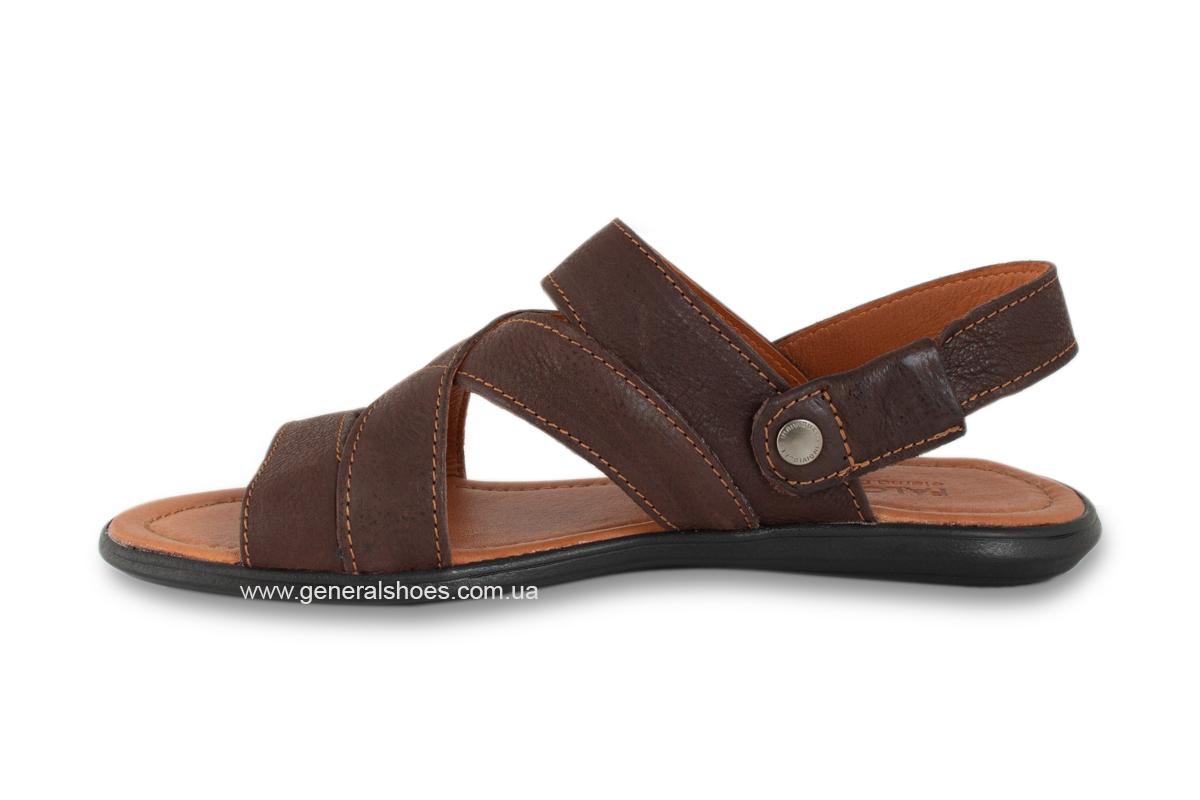 Кожаные мужские сандалии Falcon 2515 коричневые фото 8