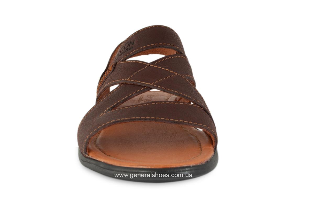 Кожаные мужские сандалии Falcon 2515 коричневые фото 9