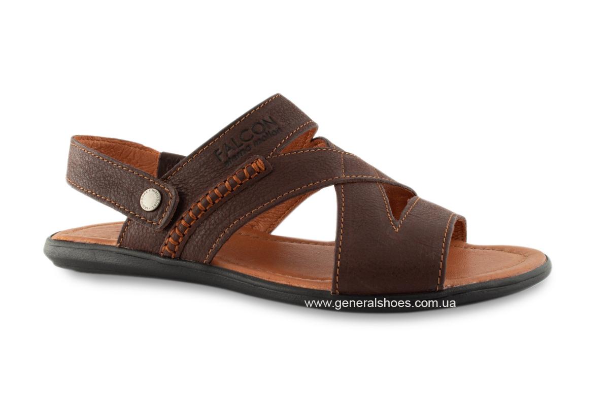 Кожаные мужские сандалии Falcon 2515 коричневые