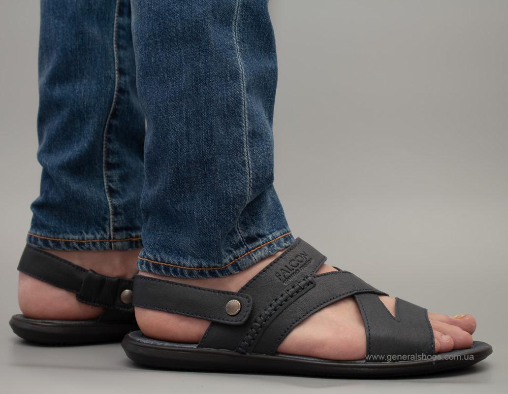 Кожаные мужские сандалии Falcon 2515 синие
