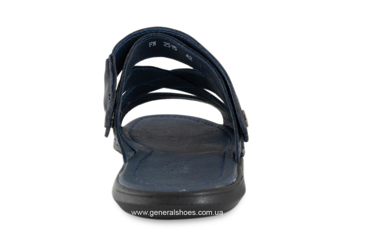 Кожаные мужские сандалии Falcon 2515 синие фото 10