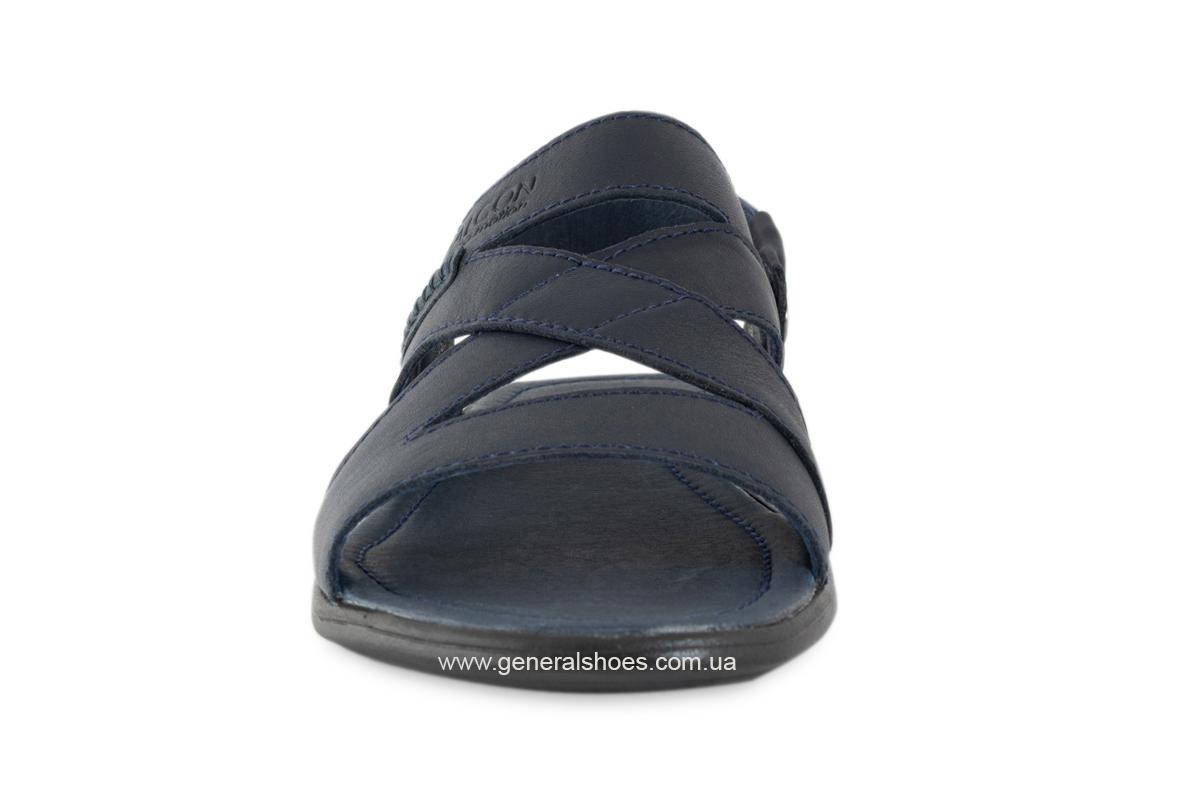 Кожаные мужские сандалии Falcon 2515 синие фото 11