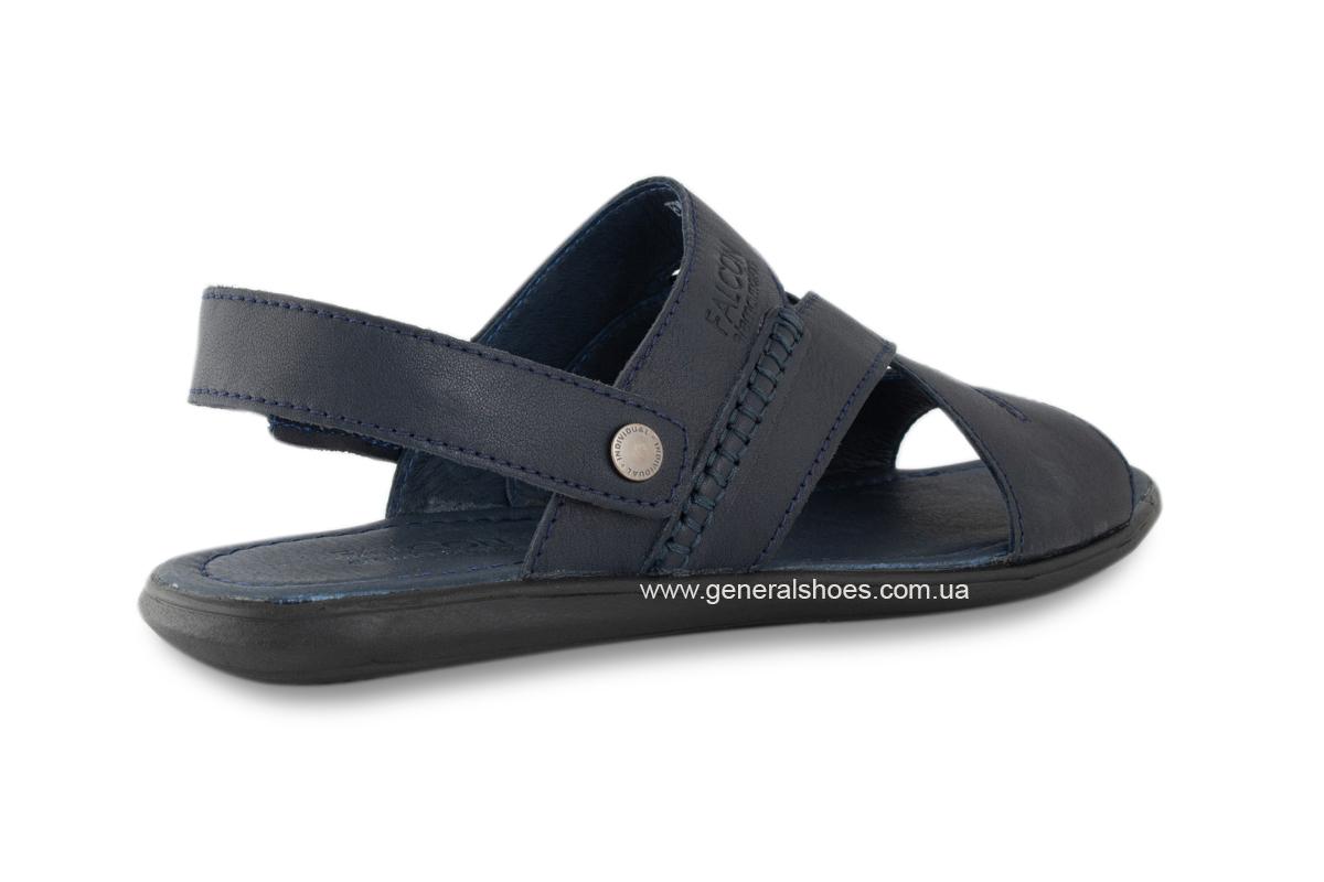 Кожаные мужские сандалии Falcon 2515 синие фото 8