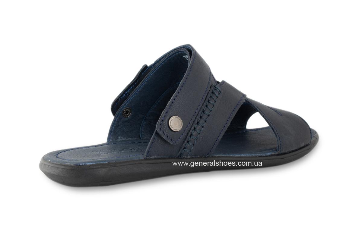 Кожаные мужские сандалии Falcon 2515 синие фото 9