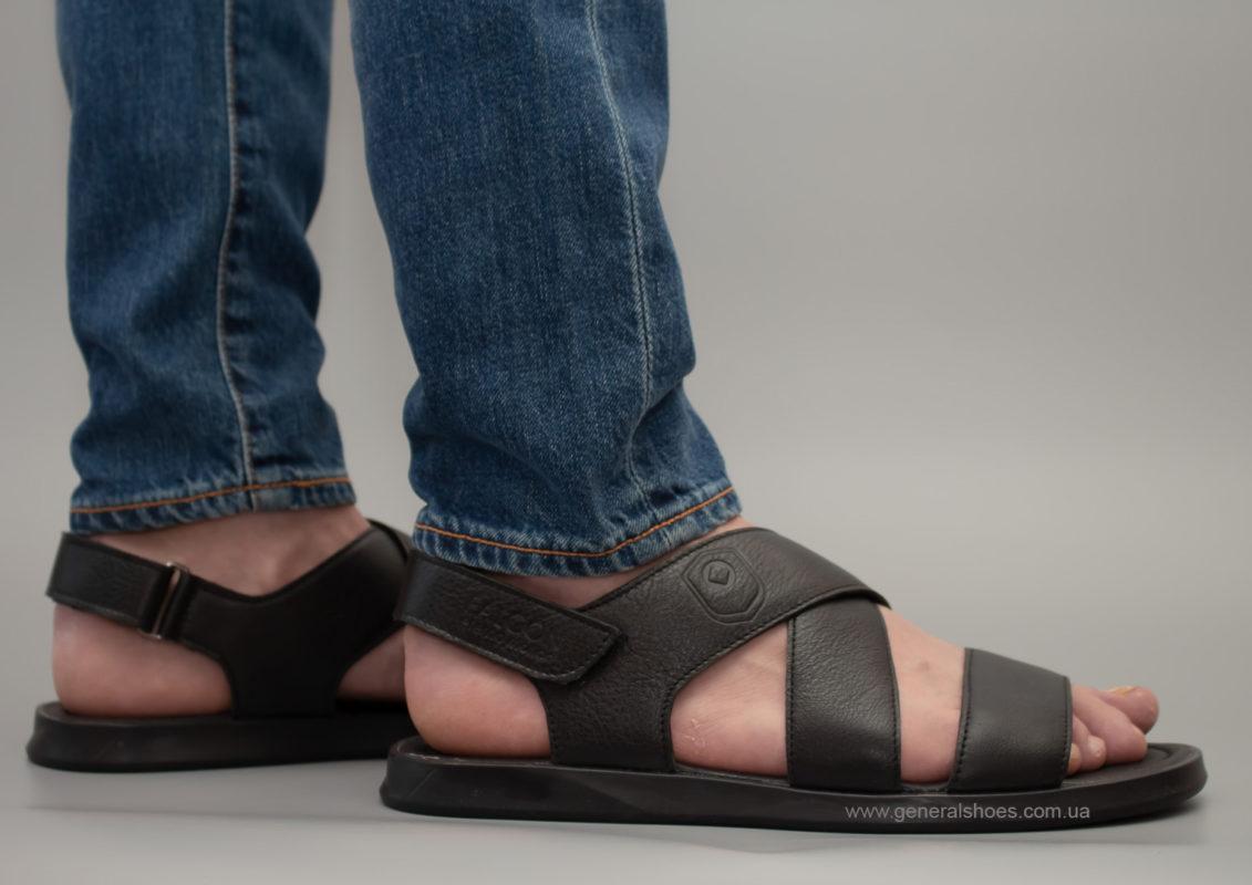 Мужские кожаные сандалии Falcon 1019 черные