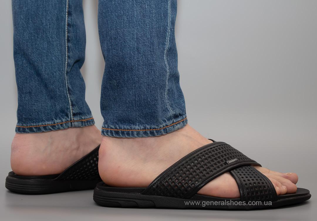 Мужские кожаные шлепанцы Clubshoes C50 черные