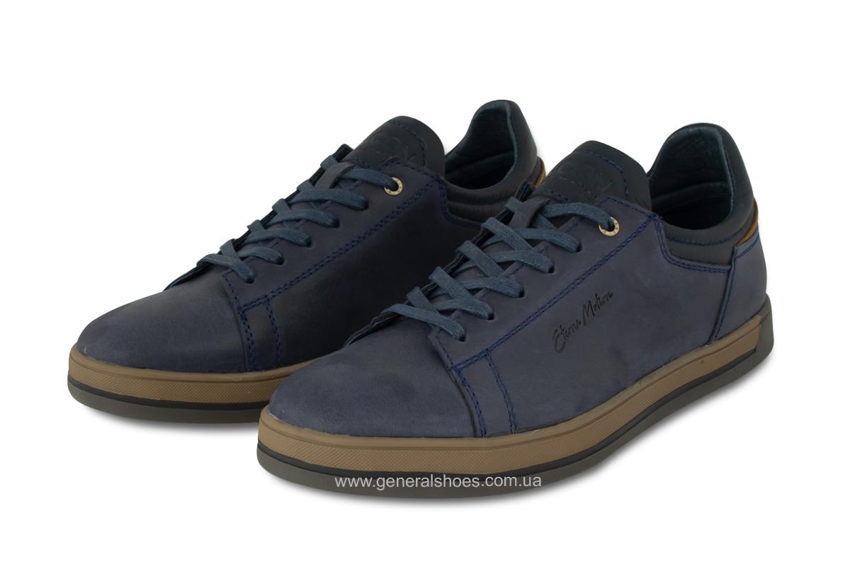 Мужские кожаные кеды Falcon 190101 синие фото 1