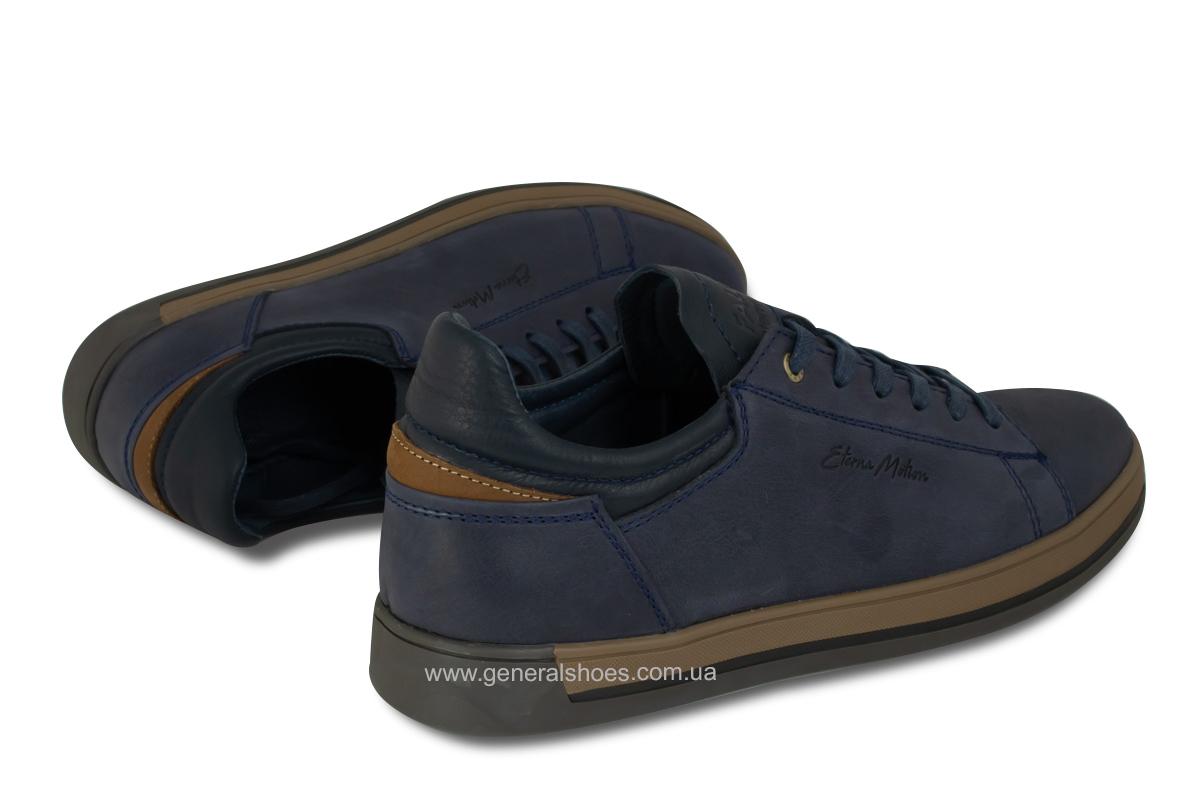 Мужские кожаные кеды Falcon 190101 синие фото 2