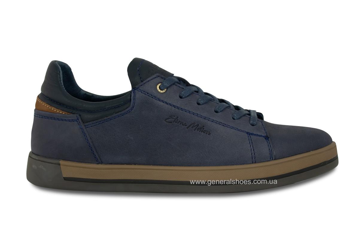 Мужские кожаные кеды Falcon 190101 синие фото 4