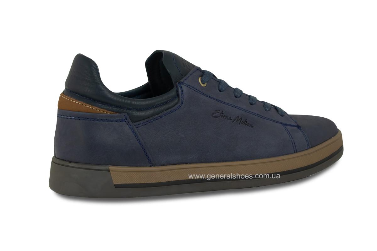 Мужские кожаные кеды Falcon 190101 синие фото 5
