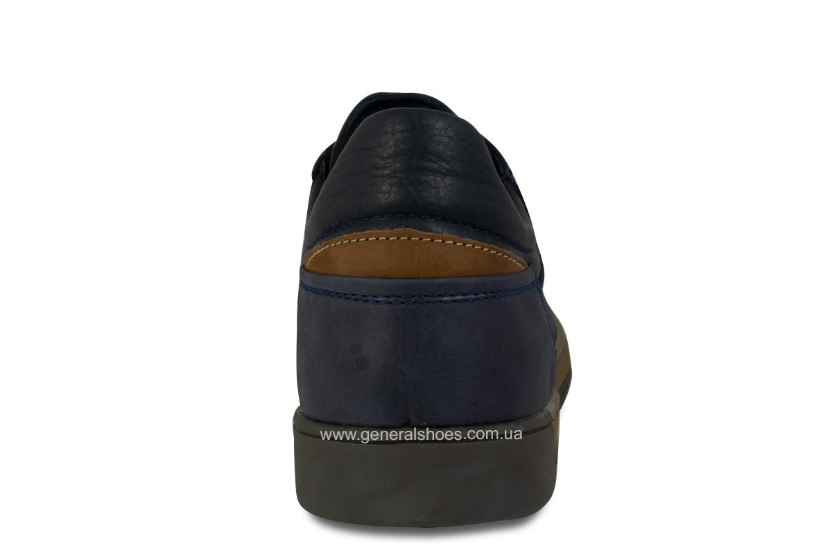 Мужские кожаные кеды Falcon 190101 синие фото 6