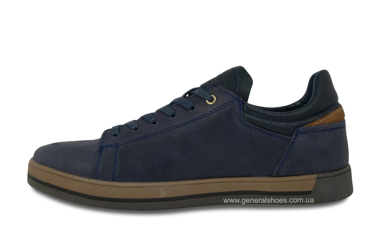 Мужские кожаные кеды Falcon 190101 синие фото 7