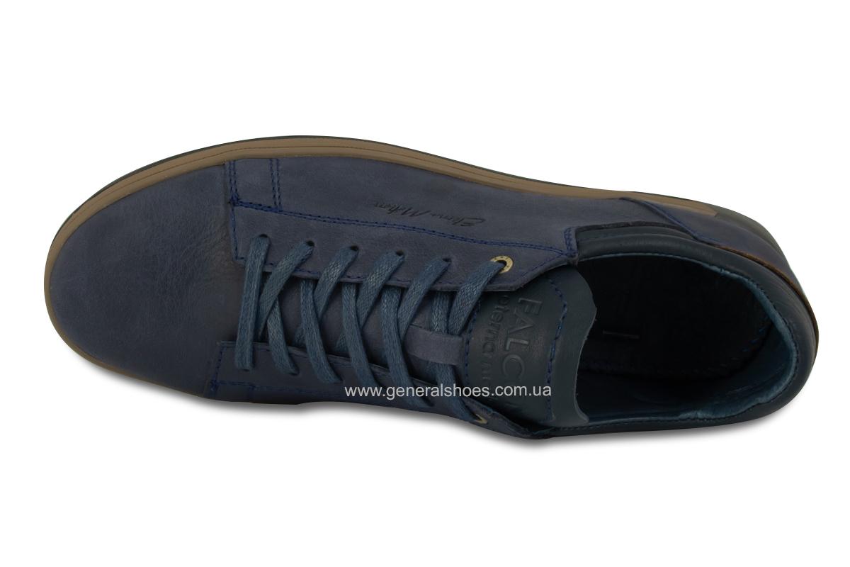 Мужские кожаные кеды Falcon 190101 синие фото 8