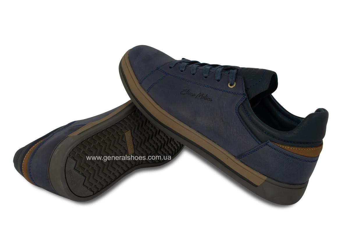 Мужские кожаные кеды Falcon 190101 синие фото 9
