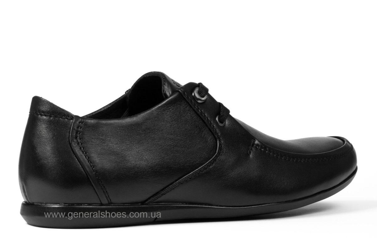 Мужские кожаные мокасины Falcon 3415 черные фото 2