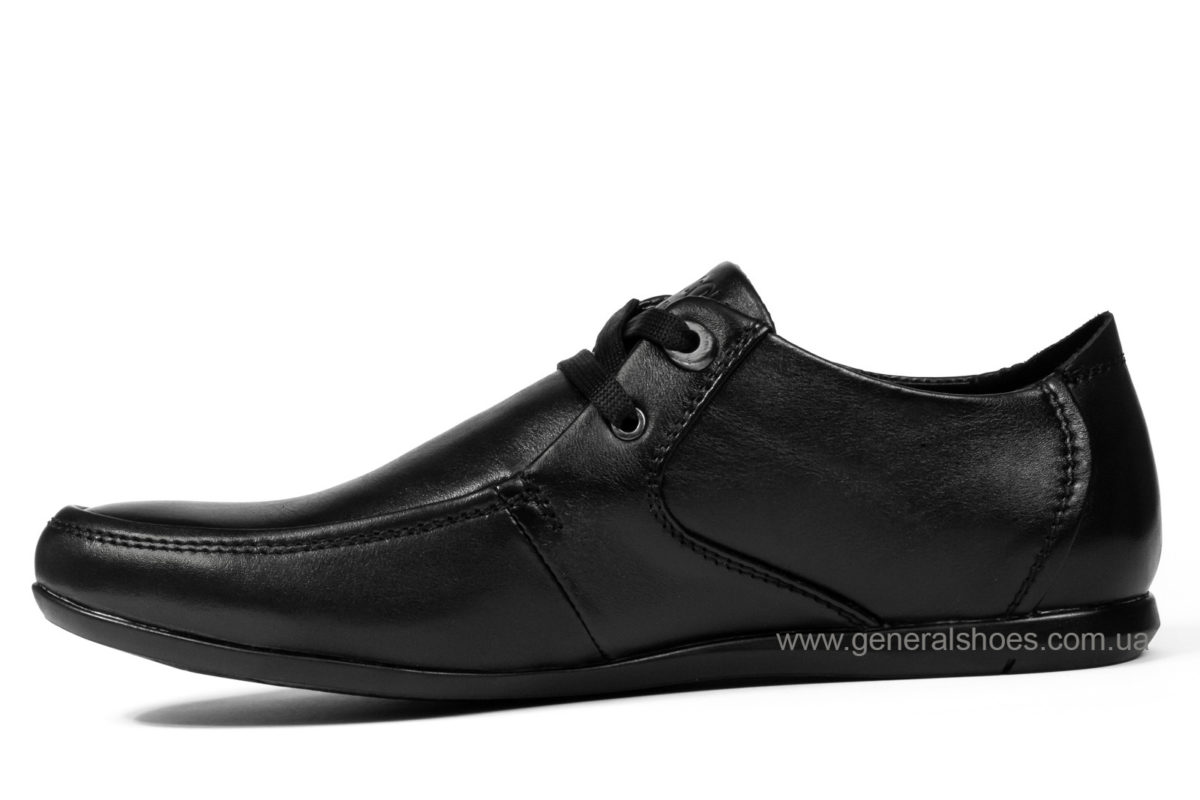 Мужские кожаные мокасины Falcon 3415 черные фото 3