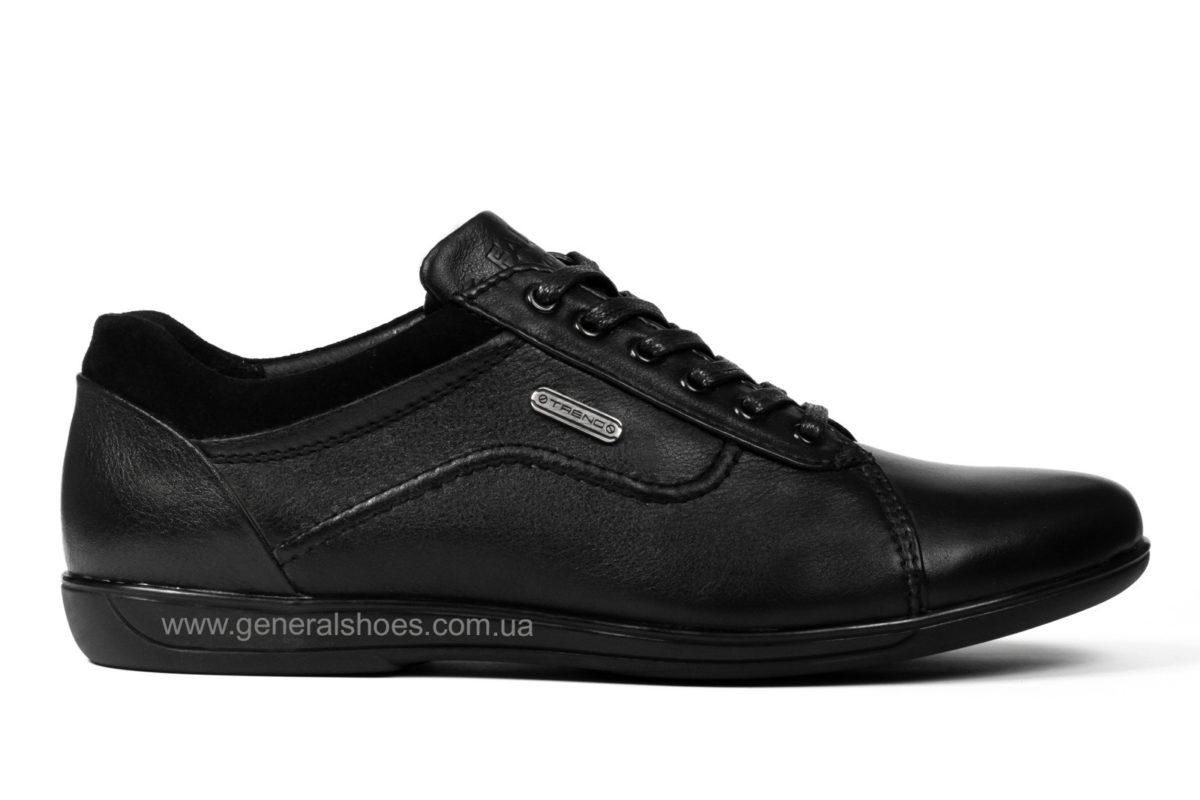 Мужские кожаные туфли комфорт Falcon 3615 черные фото 1