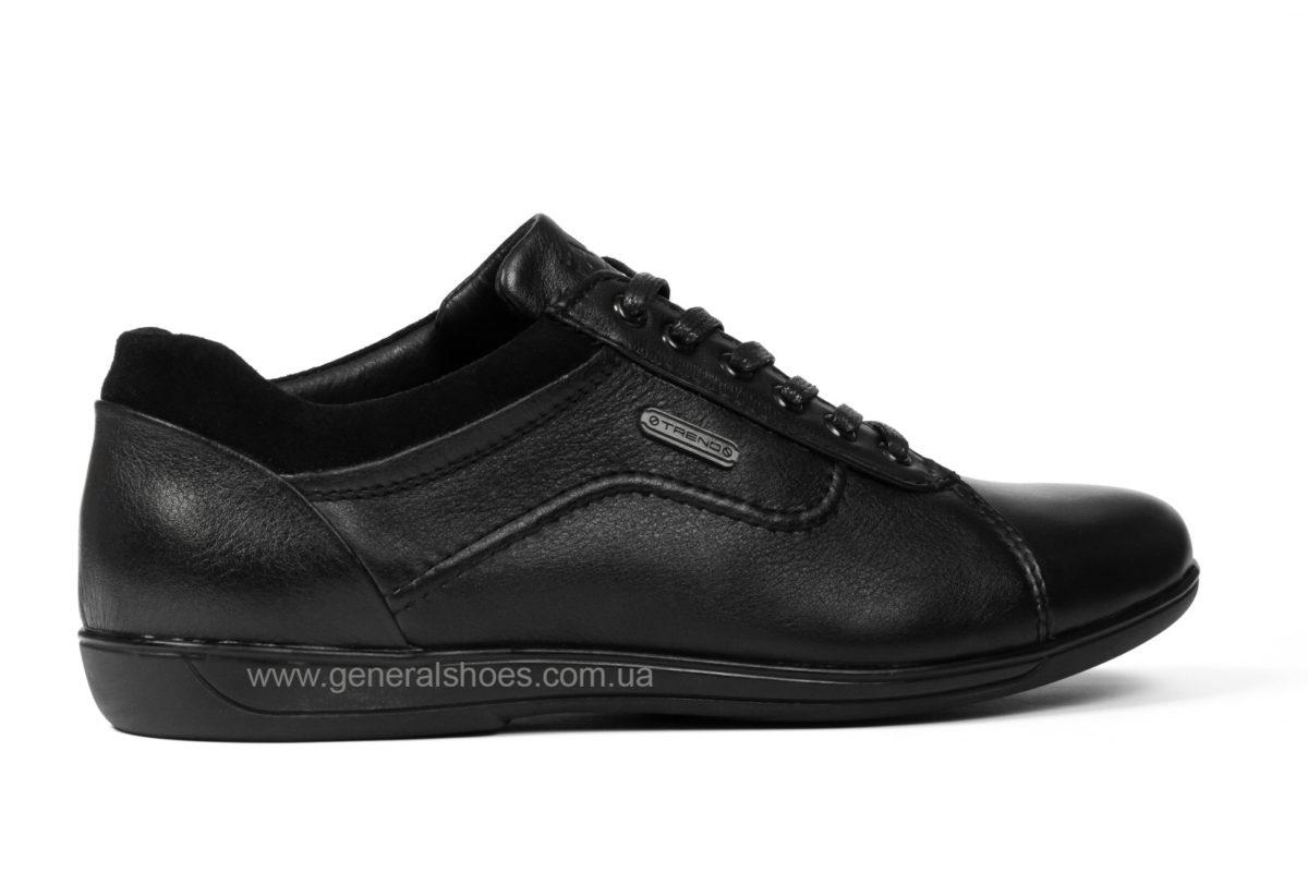 Мужские кожаные туфли комфорт Falcon 3615 черные фото 2