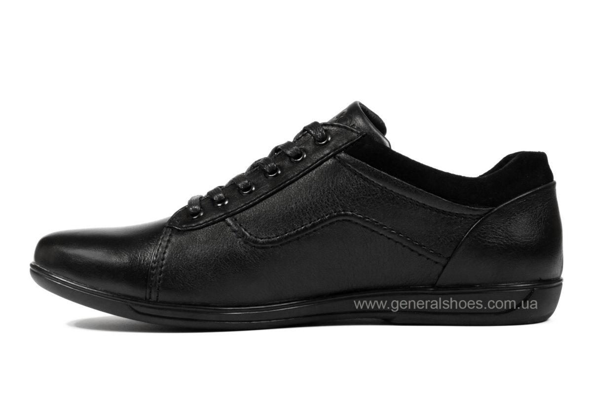 Мужские кожаные туфли комфорт Falcon 3615 черные фото 3