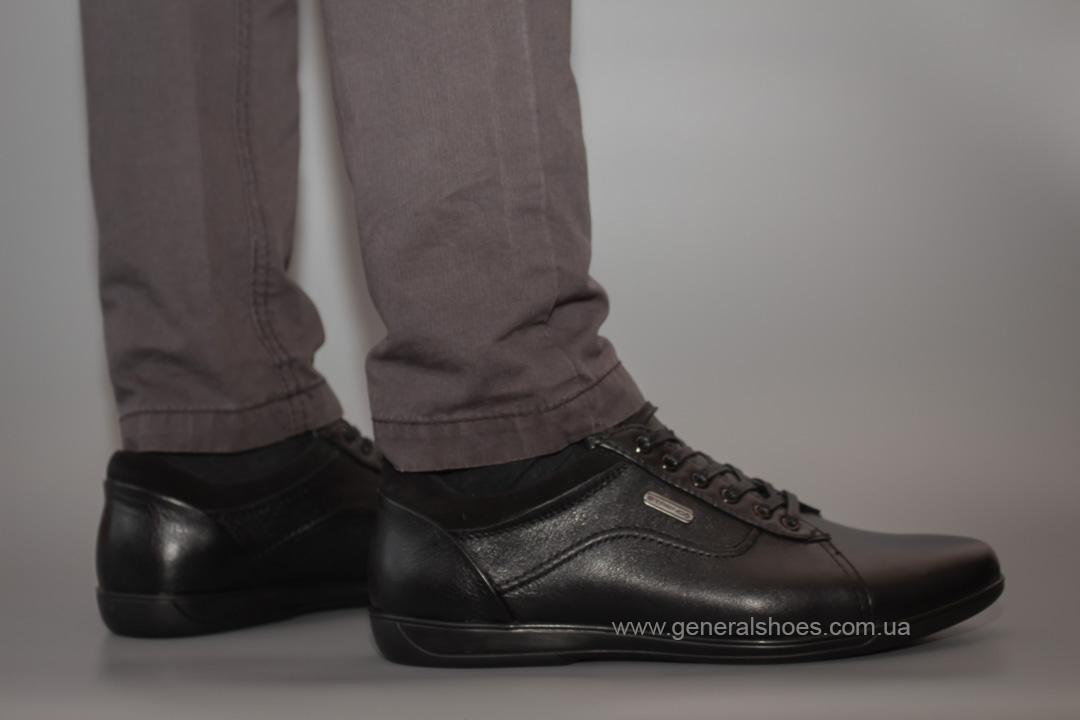 Мужские кожаные туфли комфорт Falcon 3615 черные