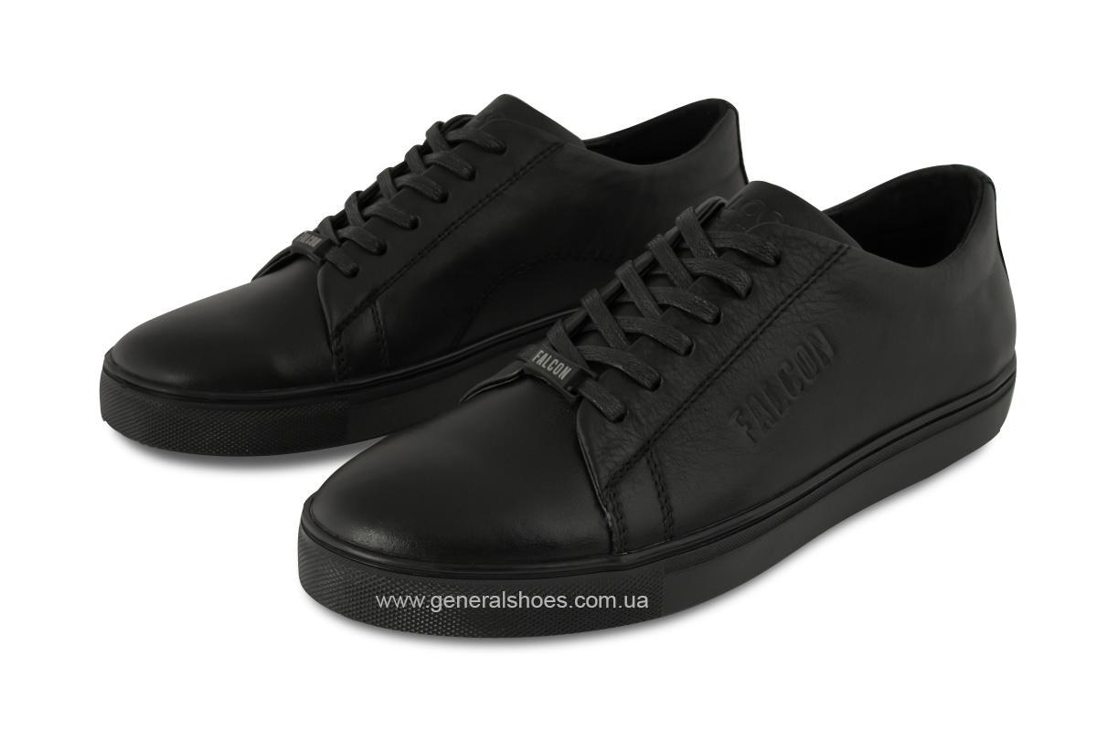 Повседневные кожаные туфли Falcon 244 черные фото 1
