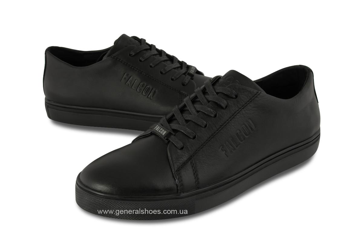 Повседневные кожаные туфли Falcon 244 черные фото 2