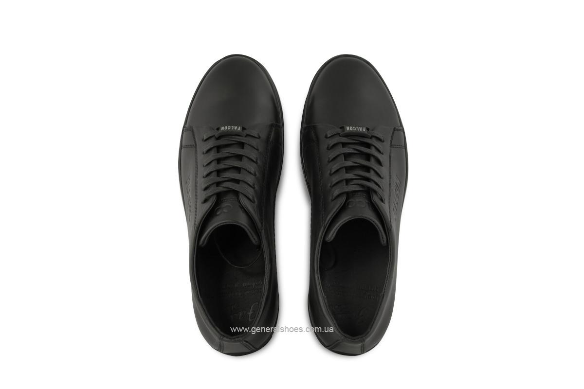 Повседневные кожаные туфли Falcon 244 черные фото 4