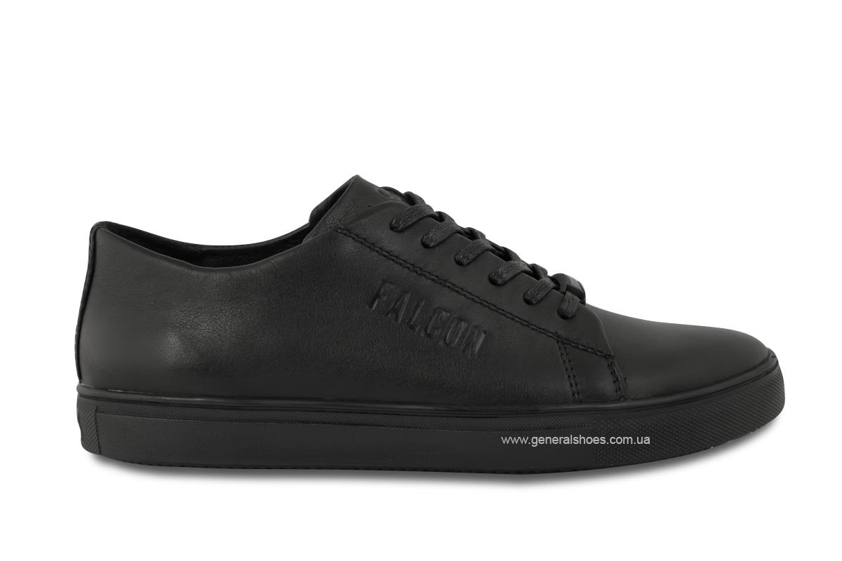 Повседневные кожаные туфли Falcon 244 черные фото 6
