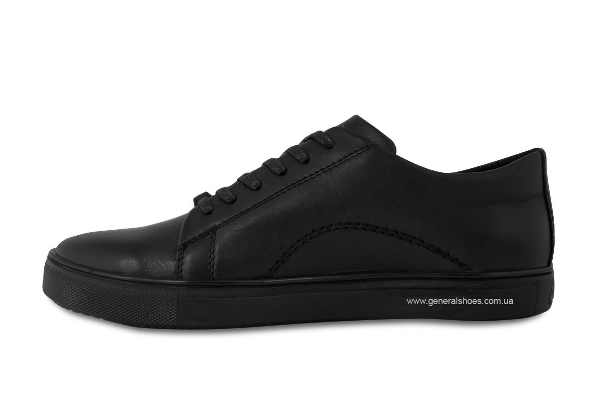 Повседневные кожаные туфли Falcon 244 черные фото 8