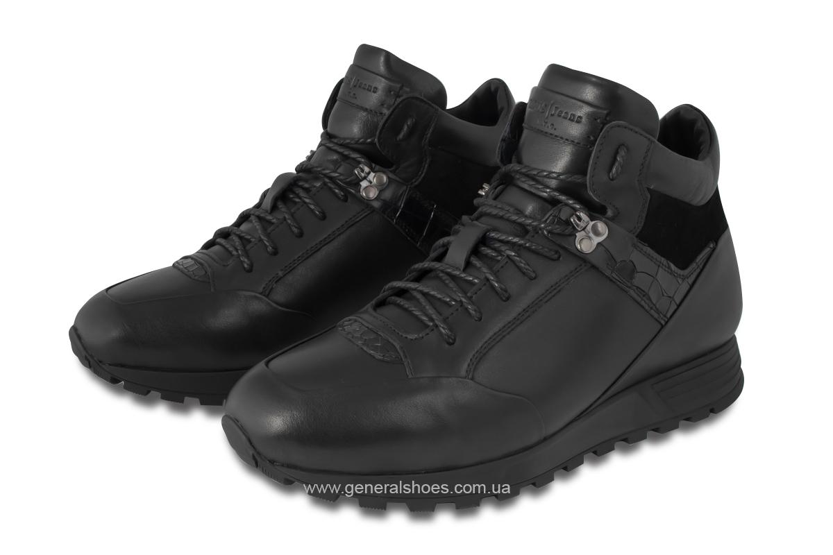 .Мужские кожаные ботинки Davis 1851-5 натуральный мех