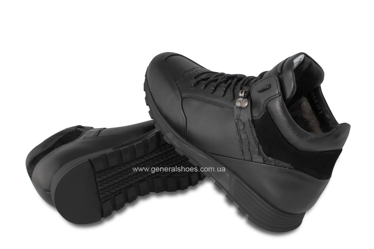Мужские кожаные ботинки Davis 1851-5 натуральный мех фото 2