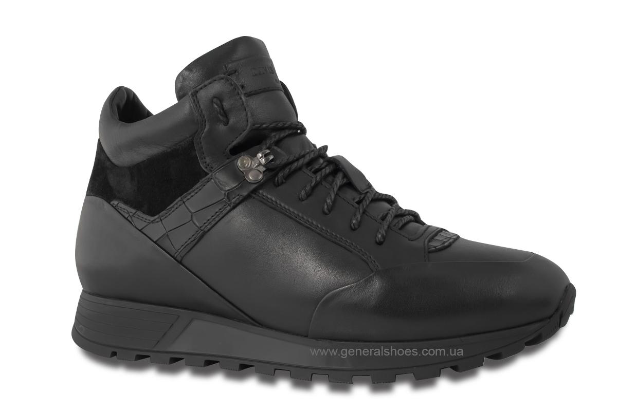 Мужские кожаные ботинки Davis 1851-5 натуральный мех фото 3