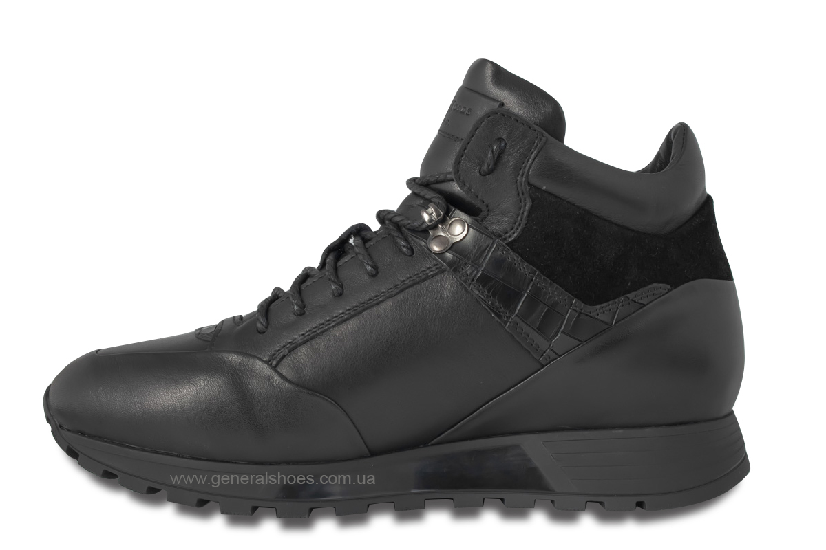 Мужские кожаные ботинки Davis 1851-5 натуральный мех фото 6