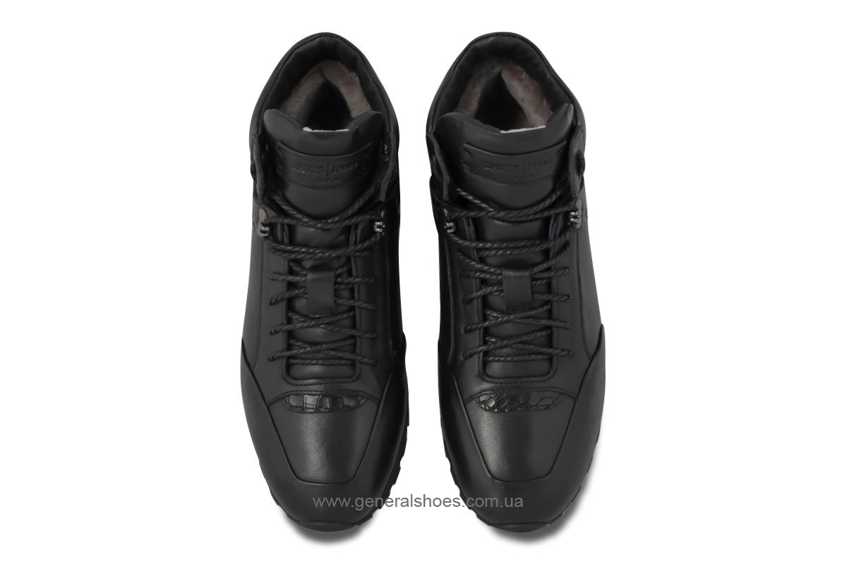 Мужские кожаные ботинки Davis 1851-5 натуральный мех фото 9