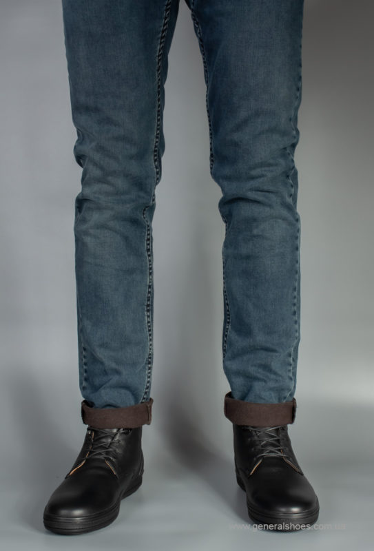 Мужские кожаные ботинки Falcon 6020 натуральный мех